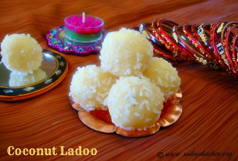 images for coconut Ladoo / Dessicated Coconut Laddu / Quick Coconut Ladoos Using Condensed Milk