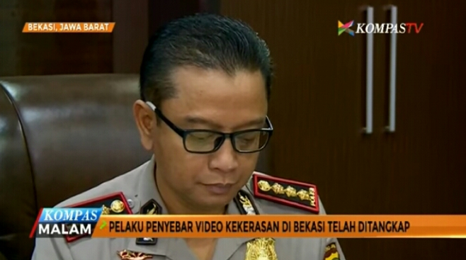 Polres Metro Bekasi Kota Tangkap Penyebar Video Tertuduh Pencuri Amplifier Dibakar Massa