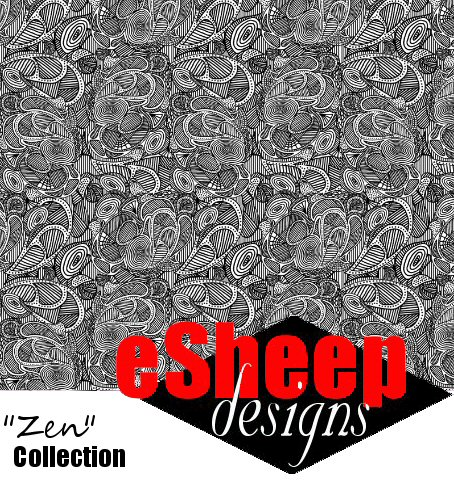 Untangle my Zen (Multiples) fabric by eSheep Designs