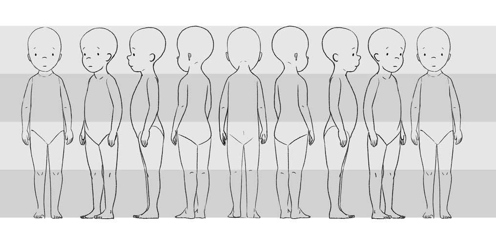 Male Character Model Sheet Template