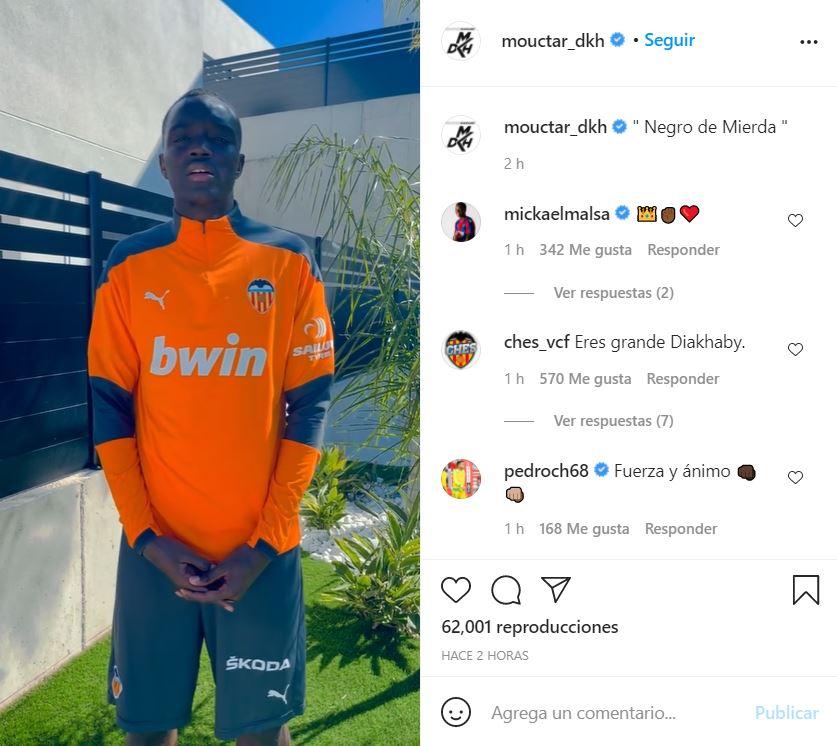 """Habló Diakhaby, el jugador del Valencia que sufrió un insulto racista: """"Me ha dolido muchísimo"""""""