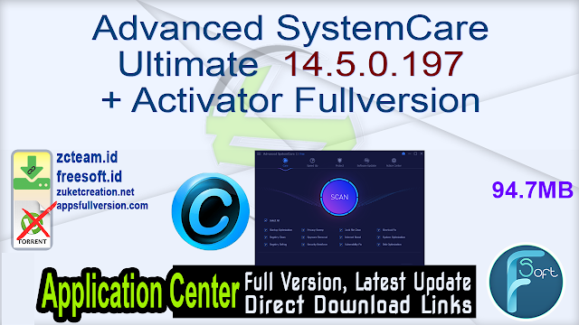 Advanced SystemCare Ultimate 14.5.0.197 + Activator Fullversion