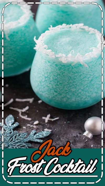 Vodka, pineapple juice, blue curacao and cream of coconut create the most delicious, beautiful and festive holiday cocktail!