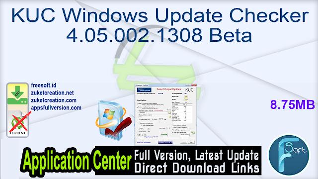 KUC Windows Update Checker 4.05.002.1308 Beta
