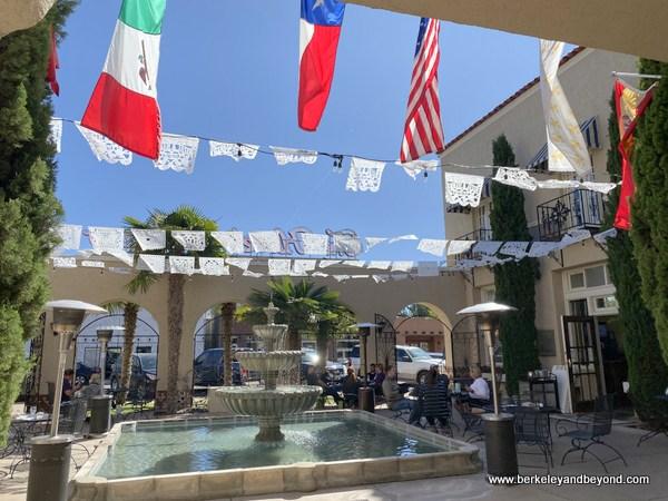 outdoor patio at Jett's Grill at Hotel Paisano in Marfa, Texas