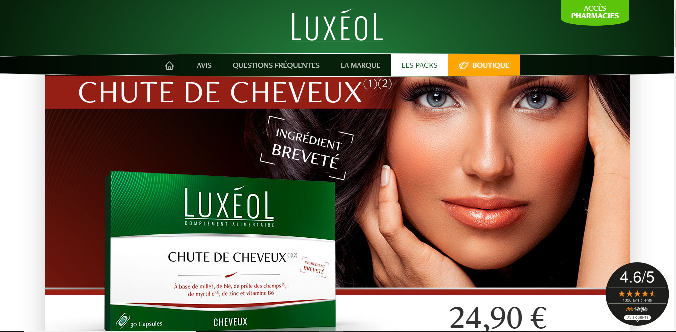 LUXÉOL Chute de cheveux, on anticipe le changement de saison! (codepromo)