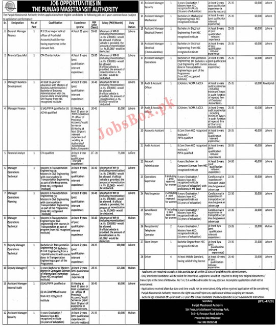 punjab-masstransit-authority-jobs-2021-apply-online