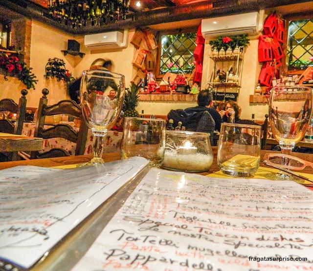Restaurante em Florença: Antica Osteria, no Borgo Ognissanti