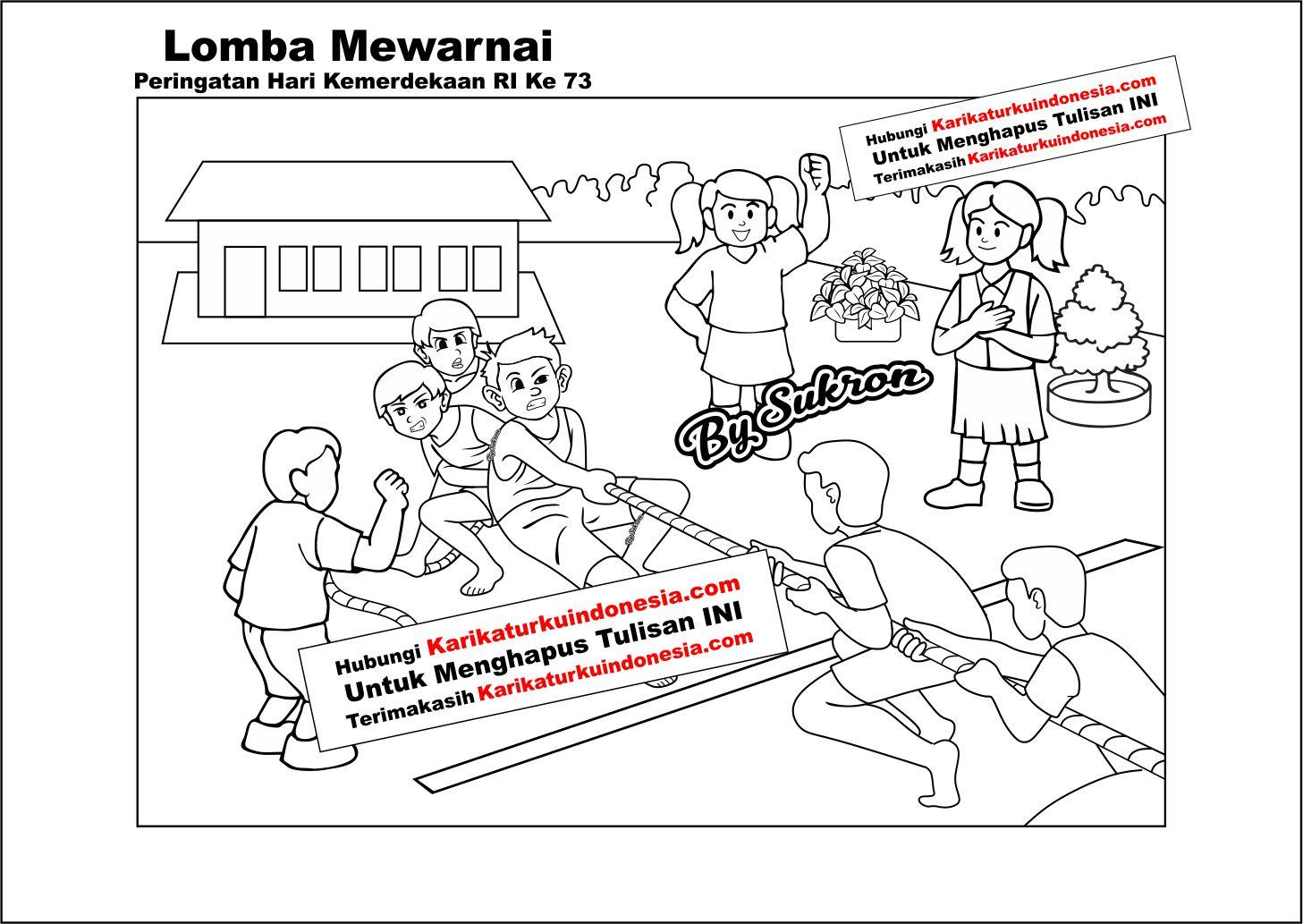Karikaturku Indonesia Lomba Mewarnai Untuk Memperingati