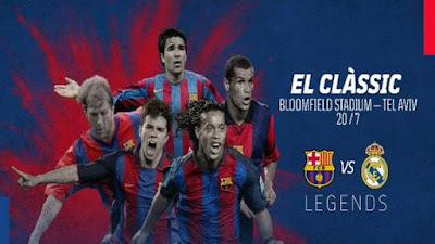 El Clasico Legend Barcelona vs Real Madrid Tersaji di Tel Aviv