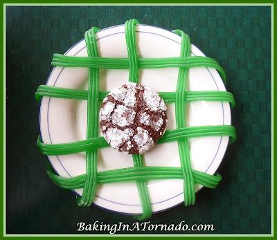 Mint Choclolate Crinkles | recipe developed by www.BakingInATornado.com | #recipe #dessert