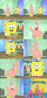 Polosan meme spongebob dan patrick 99 - hadiah ulang tahun patrick