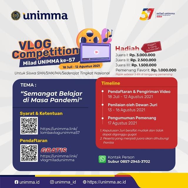 Lomba Vlog Berhadiah Jutaan Rupiah oleh Universitas Muhammadiyah Magelang