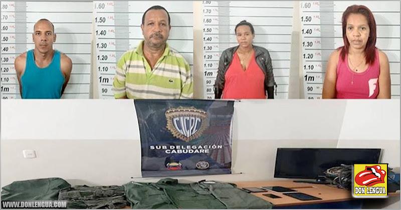 Detenidos 4 ladrones de viviendas de la banda de Los Trukiis en Lara