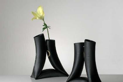 Cara Membuat Vas Bunga Dari Sampah Ban Dalam