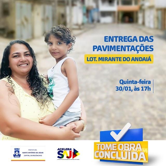 Prefeitura de SAJ entrega mais obras de pavimentação na próxima quinta (30)