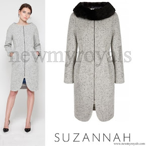 Sophie, Countess of Wessex wore Suzannah Snap Dress Coat in Tweed