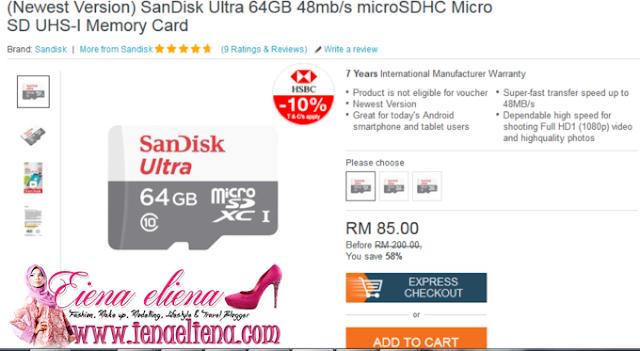 semasa sales 11.11 cik iena beli dengan harga RM90, haaaaaaaa  sales kali ni lagu murah tau RM85 je