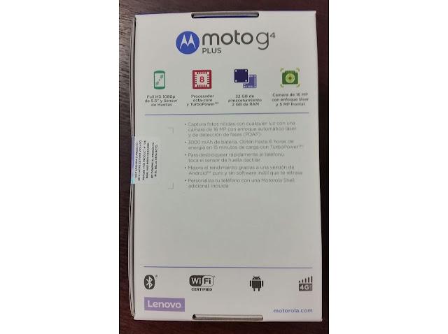 Foto kemasan ritel Moto G4 Plus bocor, menegaskan nama dan fitur
