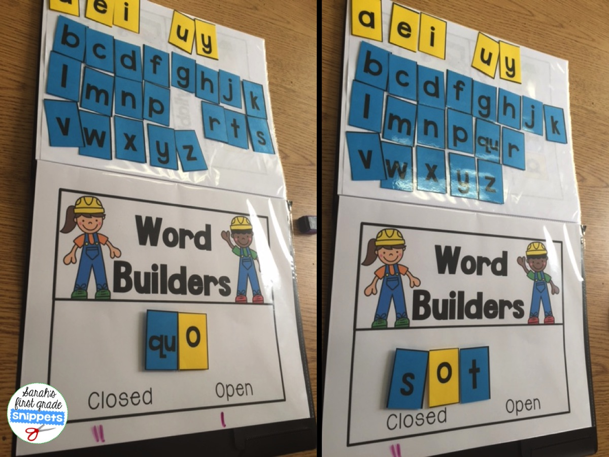Sarah\'s First Grade Snippets: Teaching Two Syllable Words