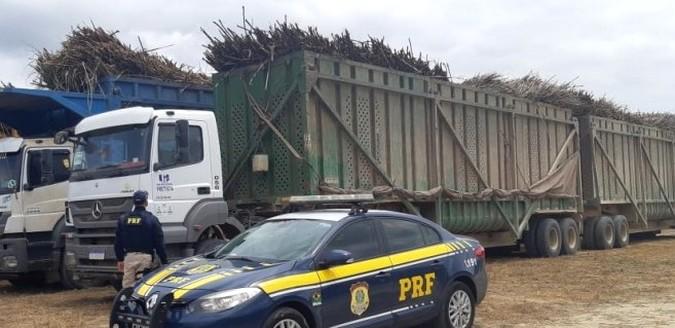 PRF flagra caminhões canavieiros com diesel incorreto e irregularidades no sistema de Arla 32