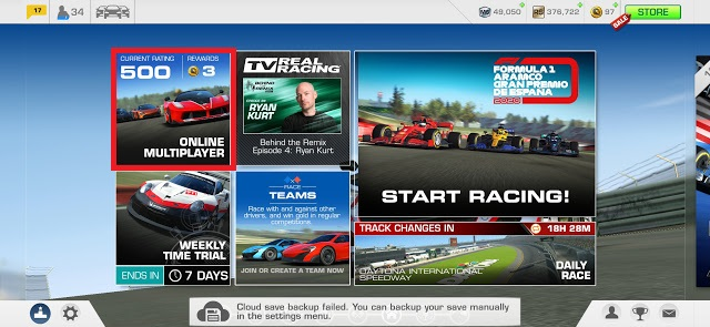Online Multiplayer Events In Real Racing 3