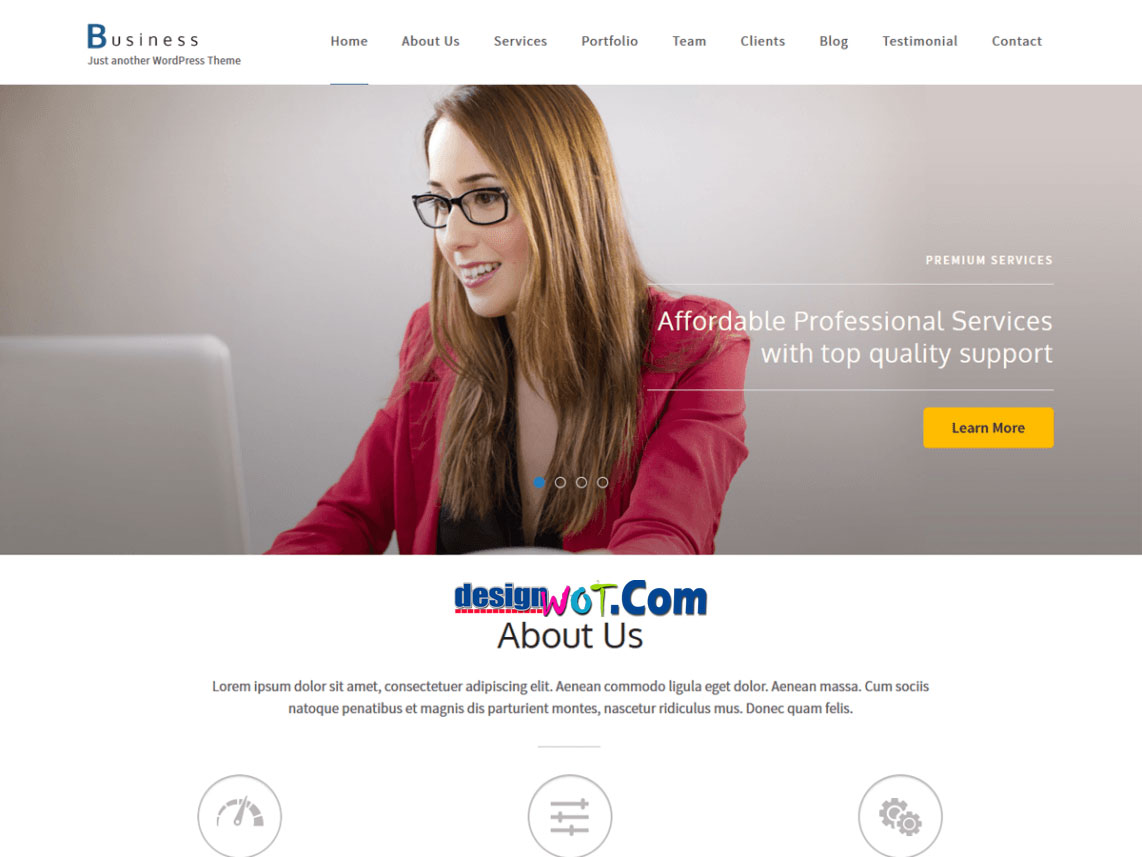BUSINESS ONE PAGE Responsive WordPress Theme