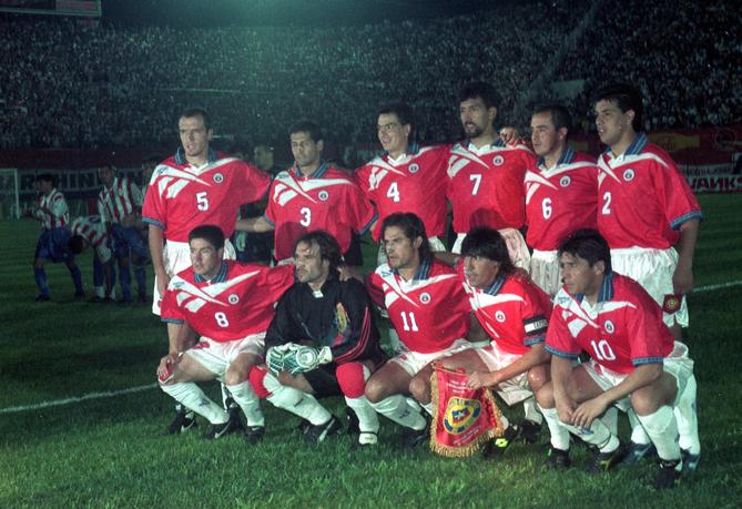 Formación de Chile ante Paraguay, Clasificatorias Francia 1998, 9 de octubre de 1996