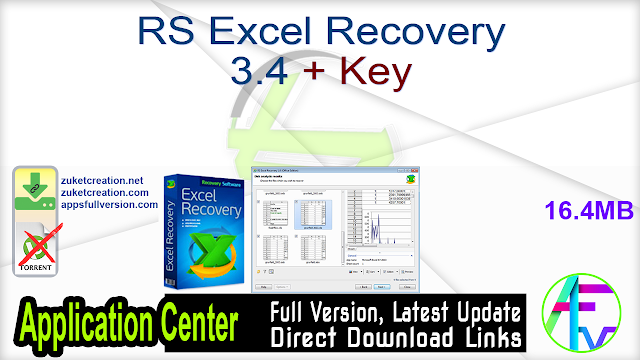 RS Excel Recovery 3.4 + Key