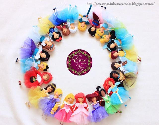 Erase una vez, muñecas de cuentos clasicos fieltro dulces caramelos