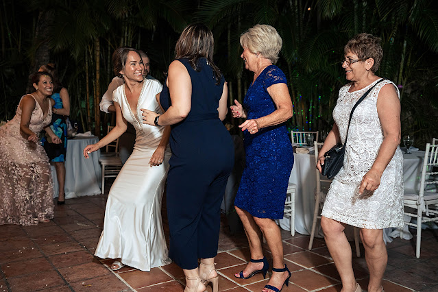 Bride dancing at Reception The Manor on St Lucie Crescent Wedding captured by Stuart Wedding Photographer Heather Houghton Photography