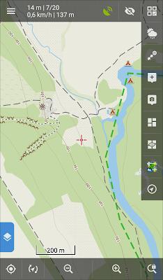 Locus Map - главный экран