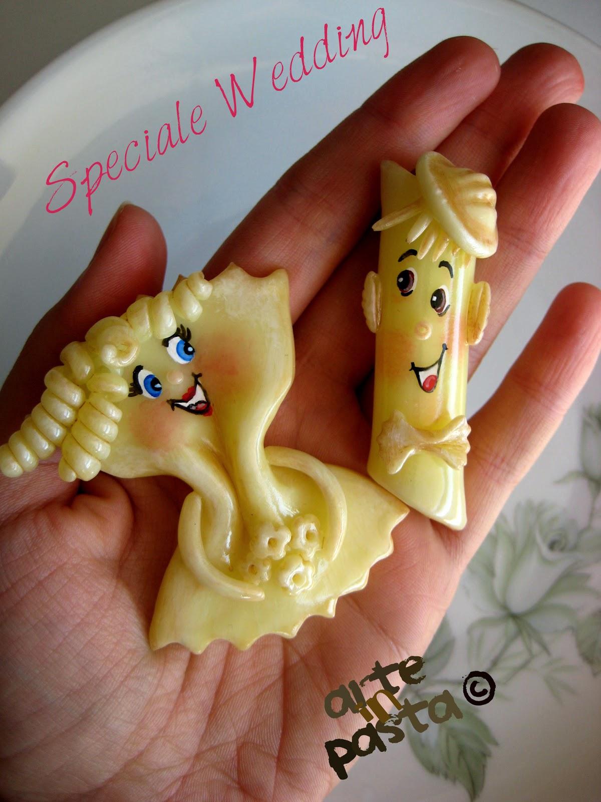 Molto arteinpasta: Originali segnaposto per il matrimonio formato PASTA!!! JB39