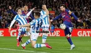 تقرير مباراة برشلونة وريال سوسيداد الدوري الاسباني