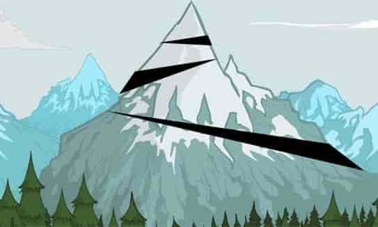 núi bị chẻ ra từng khúc