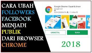 Cara Ubah Followers FB jadi Publik dari Chrome
