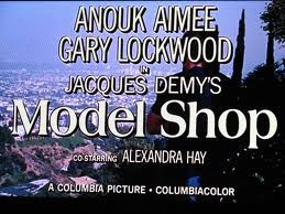Title card Model Shop 1969 movieloversreviews.filminspector.com