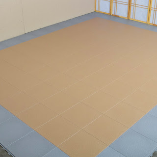 Greatmats plastic tile basement floor install
