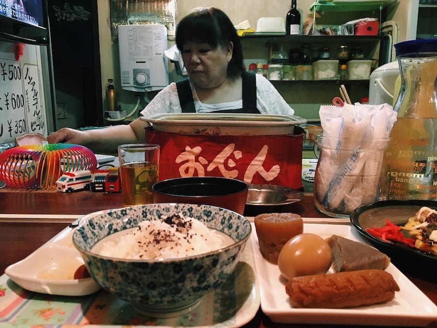 Oden set at an izakaya in Koyasan Japan