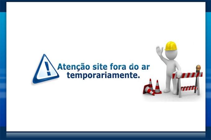 Site em manutenção
