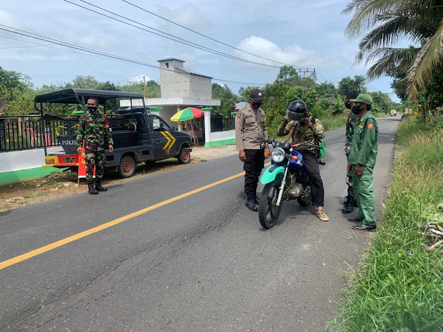 Polsek pematang karau Laksanakan ops yustisi di pemukiman penduduk desa tumpung ulung