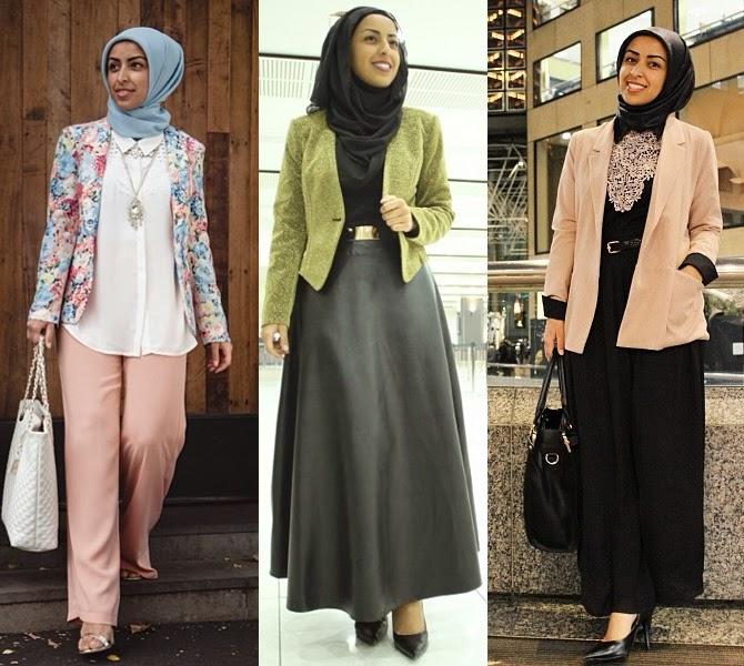 Baju Batik Guru Perempuan: 20 Contoh Model Blazer Wanita Muslimah Modis Dan Modern