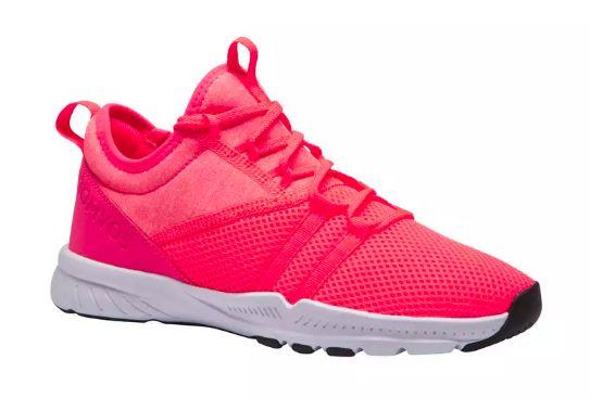Pantofi fitness roz din material textil de calitate superioara