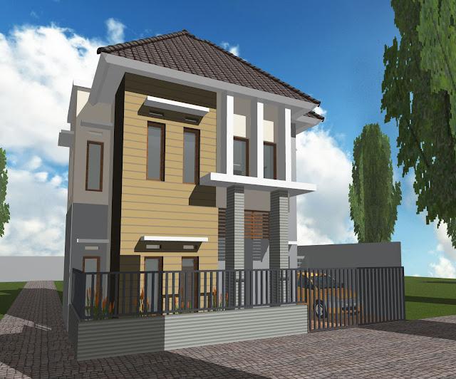 desain rumah minimalis 2 lantai lahan terbatas
