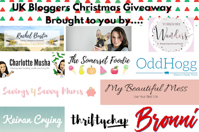 A collage of logos featuring bloggers taking part in the giveaway