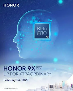 Peluncuran global Honor 9X Pro ditetapkan untuk 24 Februari; akan dikirimkan bersama HMS