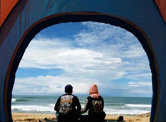 Camping di pantai jogja - foto @farida_nurdaningsih