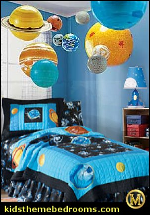 Decorating Theme Bedrooms - Maries Manor: Outer Space Decor - Space Themed Kids Rooms - Planets Decor - Astronaut Wall Murals - Outer Space Bedding - Galaxy Themed Room Decor - Space