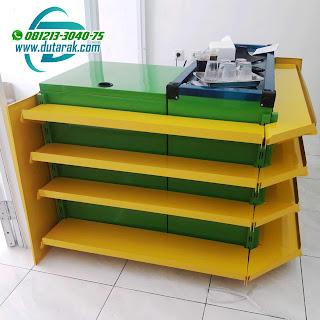 Meja Kasir hijau kuning murah surabaya