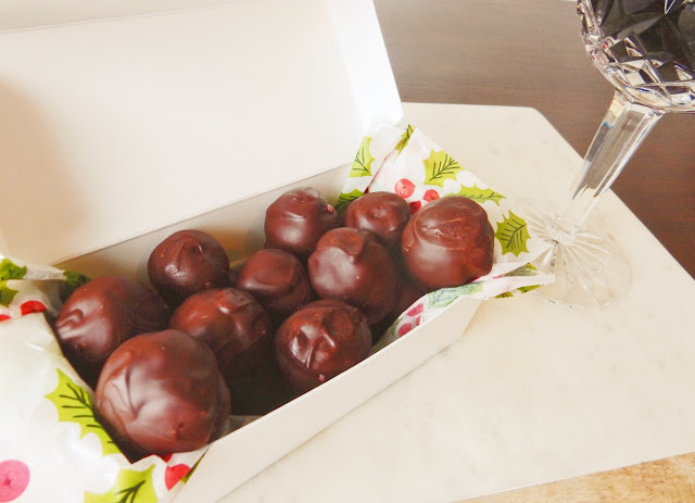 wine chocolate truffles